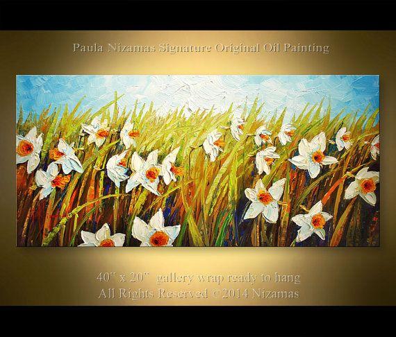 https://www.etsy.com/listing/193466070/oil-painting-daffodil-garden-40-inch