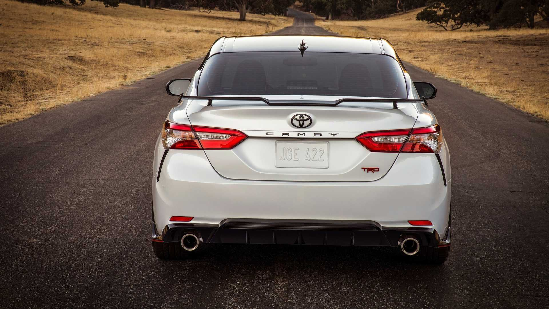 The Rear End Of The Sportier New 2020 Toyota Camry Trd Toyota
