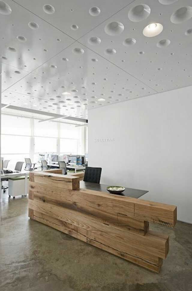 modern rustic reception desk | For the Home | Pinterest | Centro ...