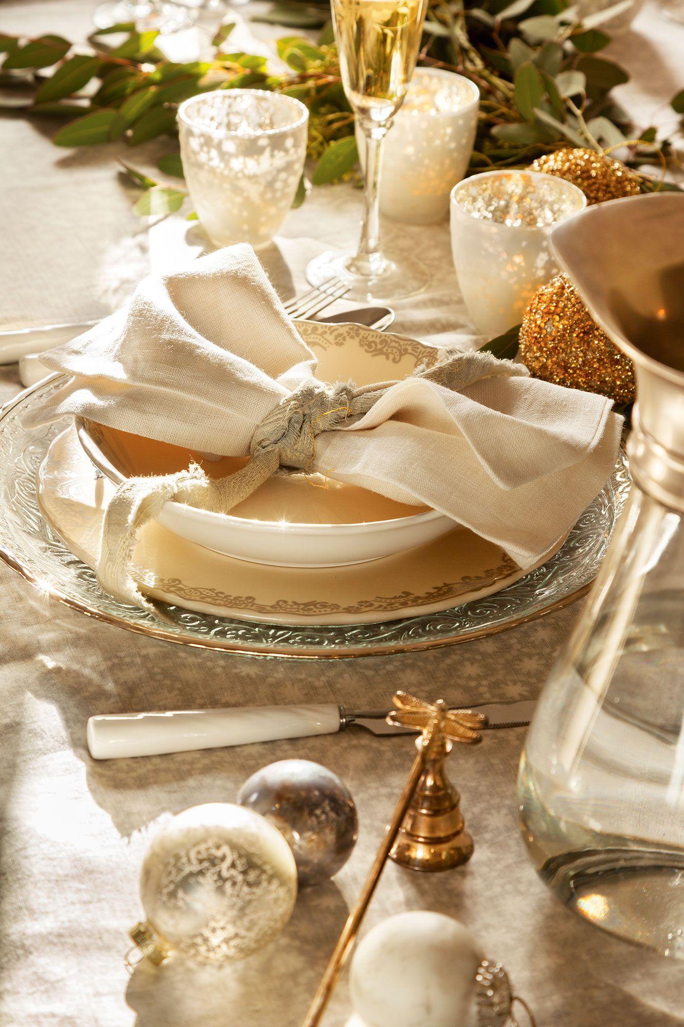 Glitter  Navidad  Decoracin de mesas navideas