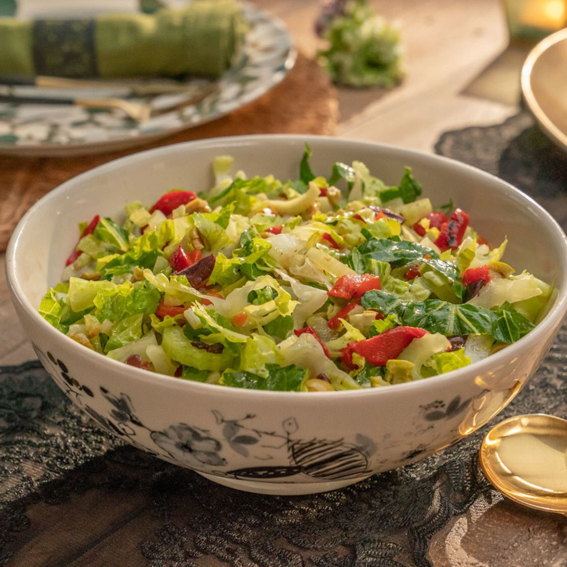 Olive And Celery Salad With Roasted Red Peppers Recipe In 2020 Stuffed Peppers Celery Salad Food Network Recipes