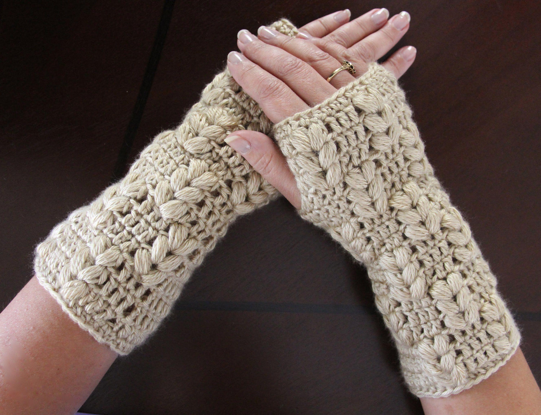 Guantes sin dedos (Mitones) | Handwärmer, Taschen nähen und Häkelmuster