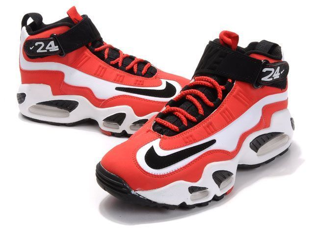 Men's Nike Air Ken Griffey Max 1 - Red White - Click Image to Close
