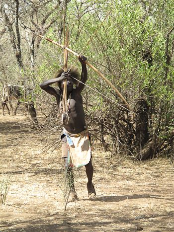 hadzabe man hunting with bow http paulkirtley co uk
