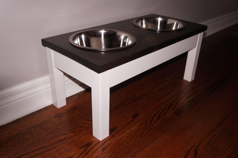 Dog bowl stand medium dog feeder farmhouse style