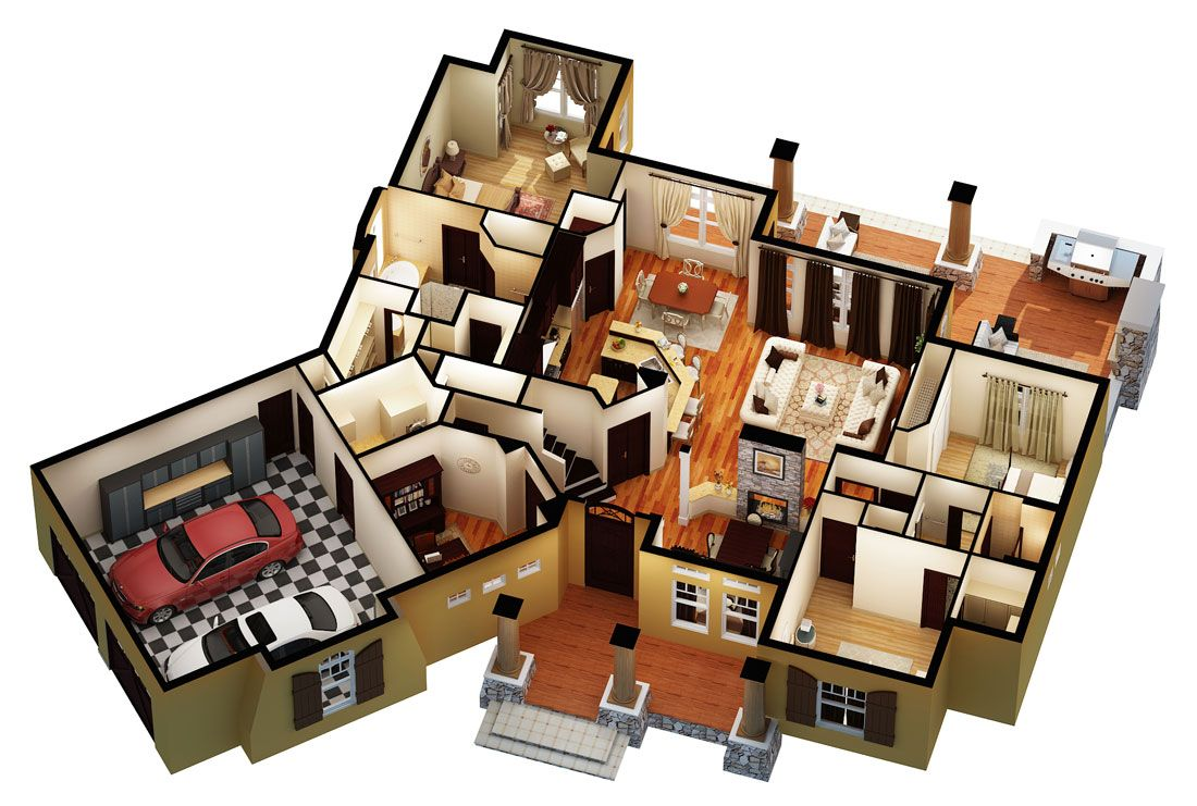 We recently added three aerial isometric floor plans of for Best selling craftsman house plans