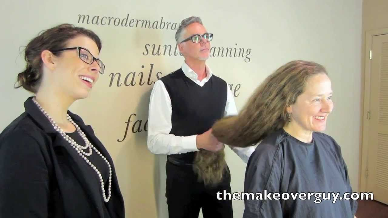 dramatic long hair cut short makeover by christopher pin on dramatic makeover videos