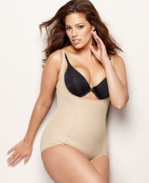 811acab1ab0 Maidenform Plus Size Firm Control Wear Your Own Bra Open Bust Body Shaper  12657 - Tan Beige 3XL