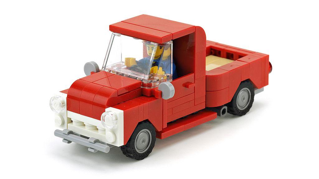 https://flic.kr/p/Z46MeD | Red Pickup Truck | Building instructions YOUTUBE