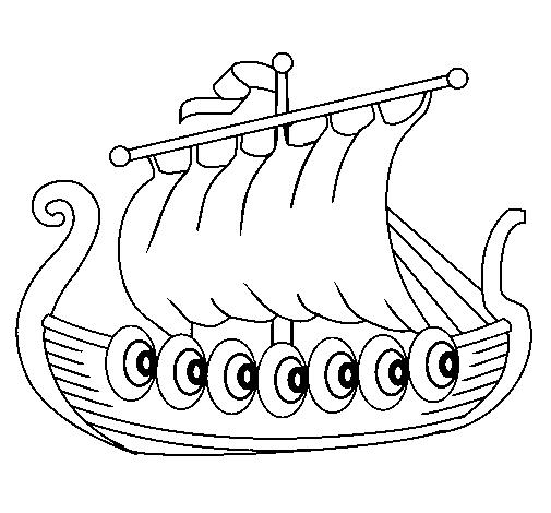 Free viking long ship coloring pages | Viking Art Images | Pinterest ...