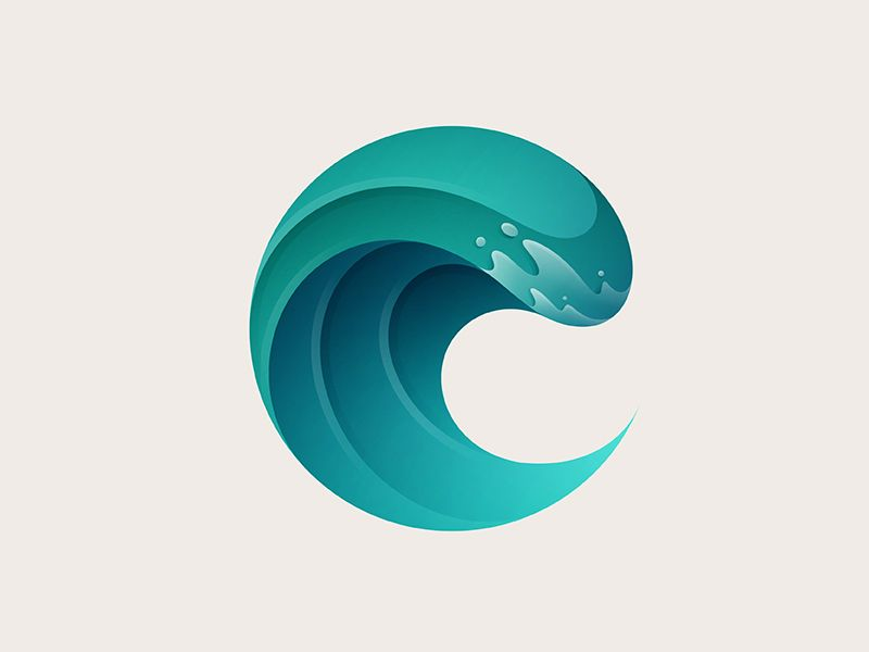 Big Wave Logo   Graphic design logo, Branding design logo, Logo design  creative