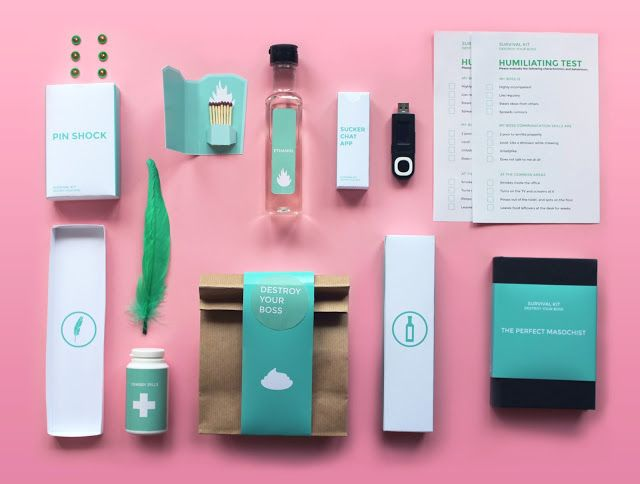 Destroy Your Boss - Office Survival Kit (Concept) on Packaging of the World - Creative Package Design Gallery