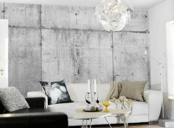 Modern Wallpaper Patterns Creating Realistic Concrete Wall Design