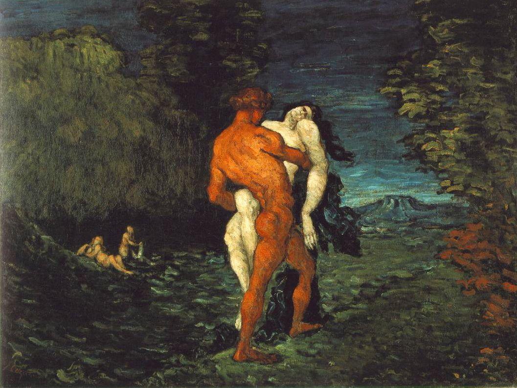 The Abduction, Paul Cezanne, Fitzwilliam Museum, England