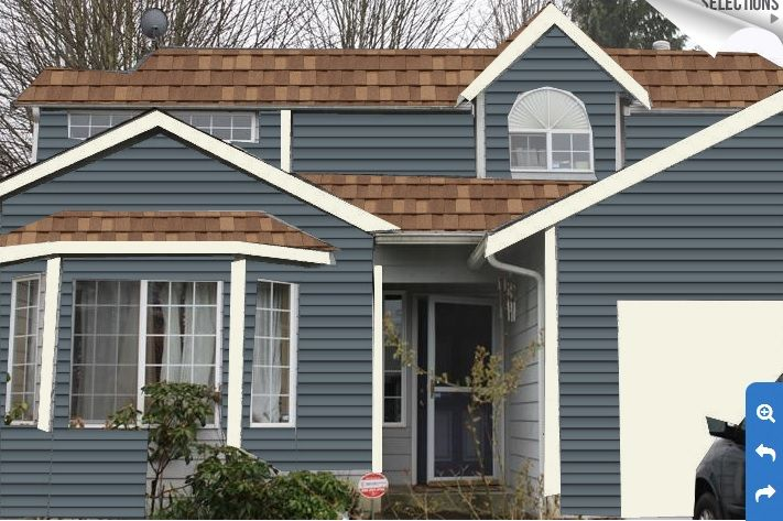 Pacific Blue Paint With Lt Brown Roof Deciding House