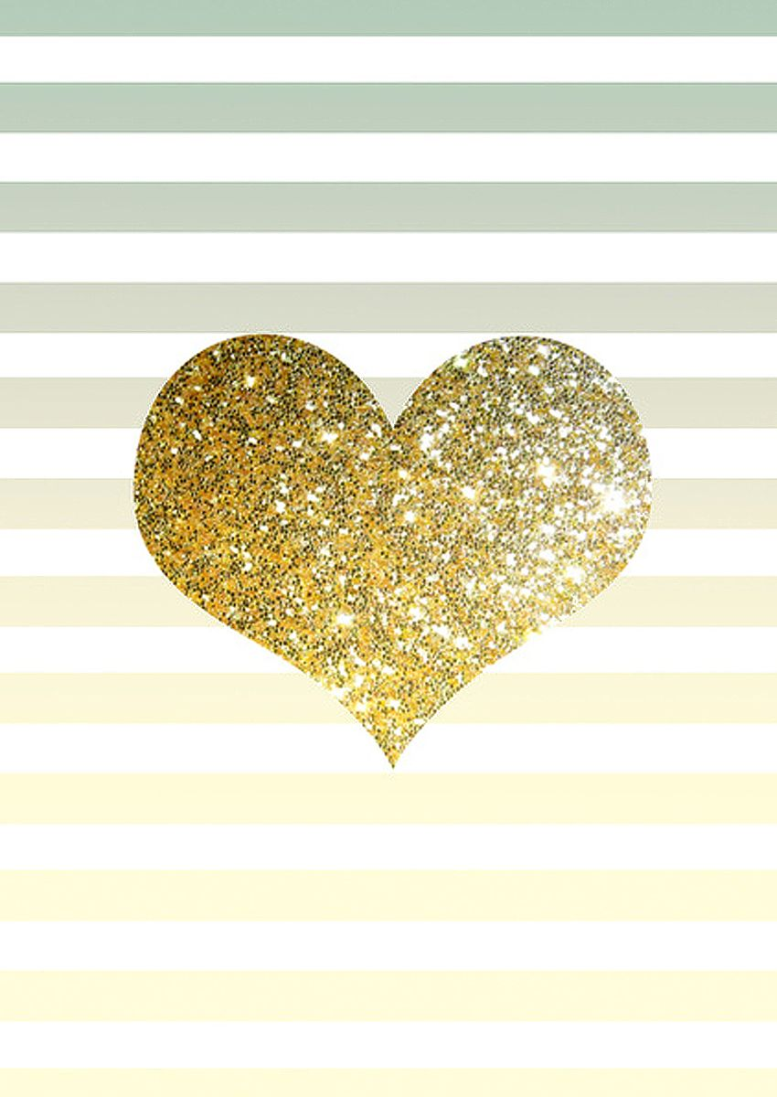 Gold Glitter Heart | Photo Credit: pinterest.com ...
