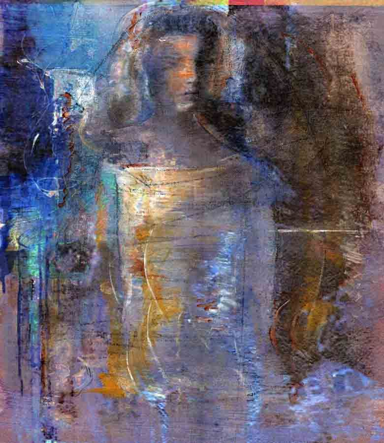figure e20 ~ acrylic on canvas ~ by cliff warner