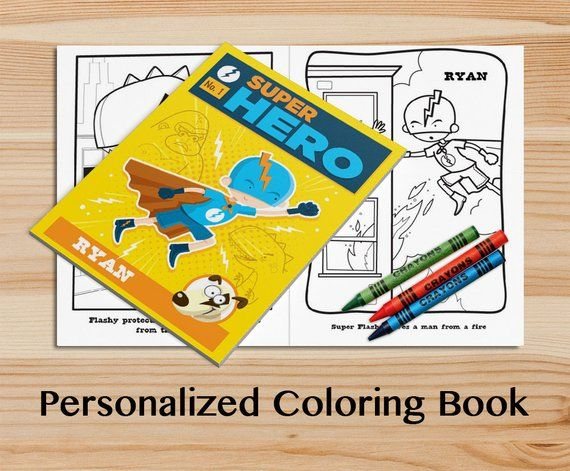 Personalized Hero Coloring Book A Custom Coloring Book With