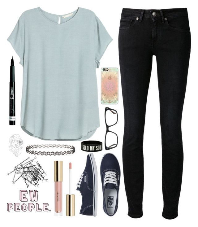 """""""Untitled #874"""" by chill-outfits ❤ liked on Polyvore featuring H&M, Levi's Made & Crafted, Vans, Casetify, GlassesUSA, Miss Selfridge, PBteen and Rimmel"""