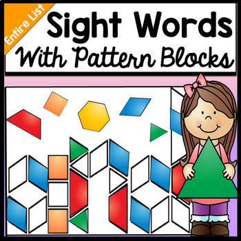 your students will practice their sight words by making the letters with pattern blocks many of these words all of the
