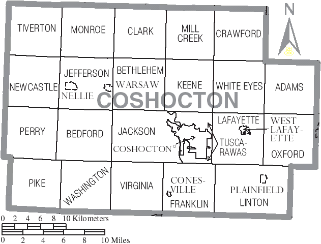 File Map Of Coshocton County Ohio With Municipal And Township Labels Png Coshocton County Ohio History Coshocton Ohio