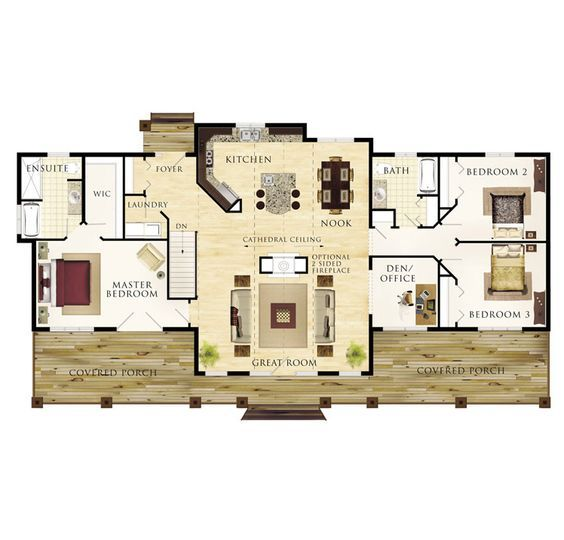 Seguin floor plan obsessed with that double sided for Fireplace floor plan