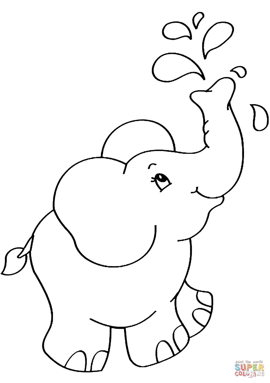 Malvorlage Baby Elefant - tiffanylovesbooks