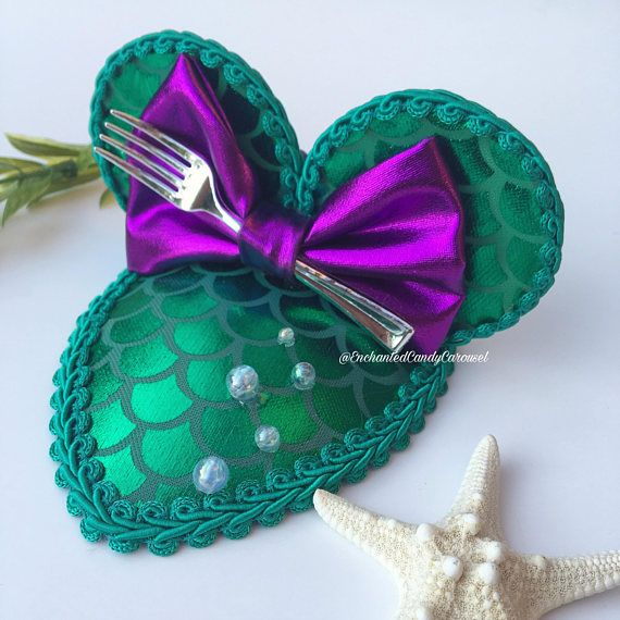 Ariel The Little Mermaid Inspired Teardrop Mouse Ears Fascinator Hat