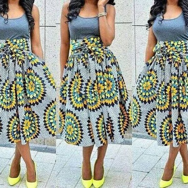 The Picture fabric is currently sold out, please check out ourfabric selection pageand leave a note with the fabric you wish to choose. The skirtis handmade with authentic African fabric. The skirt is custom made after the order and all sizes are available. Also please refer to the sizing chart and choose the closest size to your actual measurements. It will be really appreciated if you can leave your specific measurements to ensure great fit. You will receive an email shortly after…
