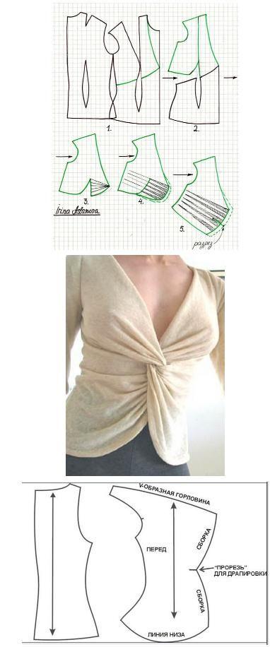 nelyager.ru/... | vestido | Pinterest | Patrones, Blusas y Costura