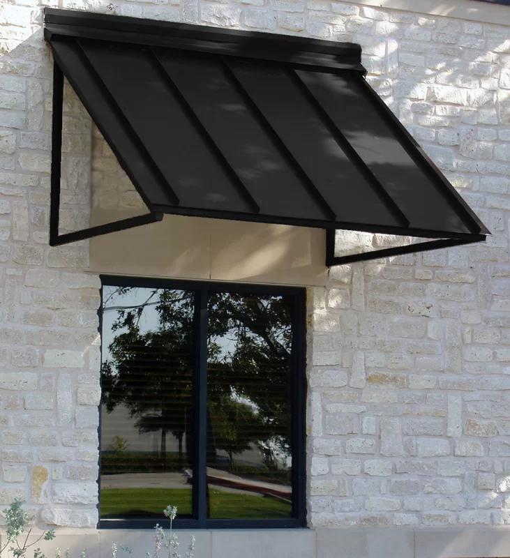 Awntech Houstonian Standard Window Awning Wayfair In 2020 Door Awnings Metal Awning Window Awnings