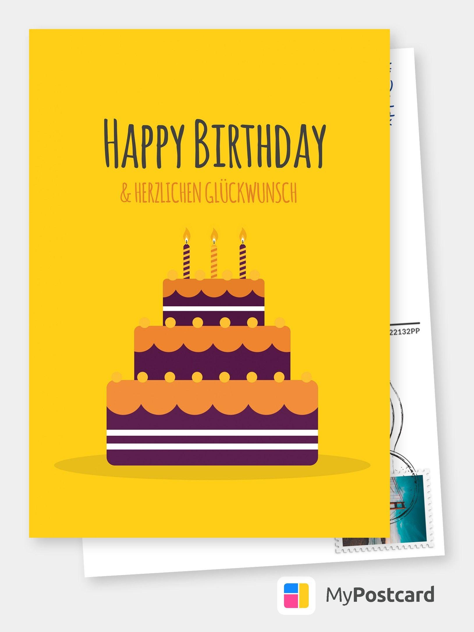 Ein Kuchen Nur Fur Dich Geburtstagskarten Spruche Echte Postkarten Online Versenden Birthday Congratulations Birthday Greetings Birthday Cards