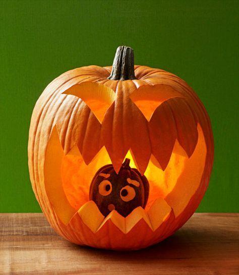 10 id es d co pour l 39 halloween halloween citrouille halloween deco citrouille halloween et - Citrouille effrayante ...