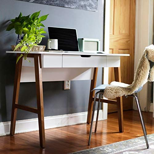 Nathan James 51101 Telos Home Office Computer Desk With D