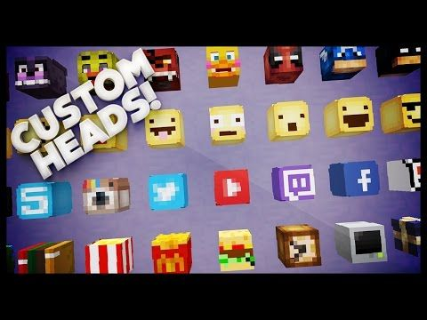 Minecraft How To Get Custom Heads YouTube Minecraft Related - Minecraft games spielen