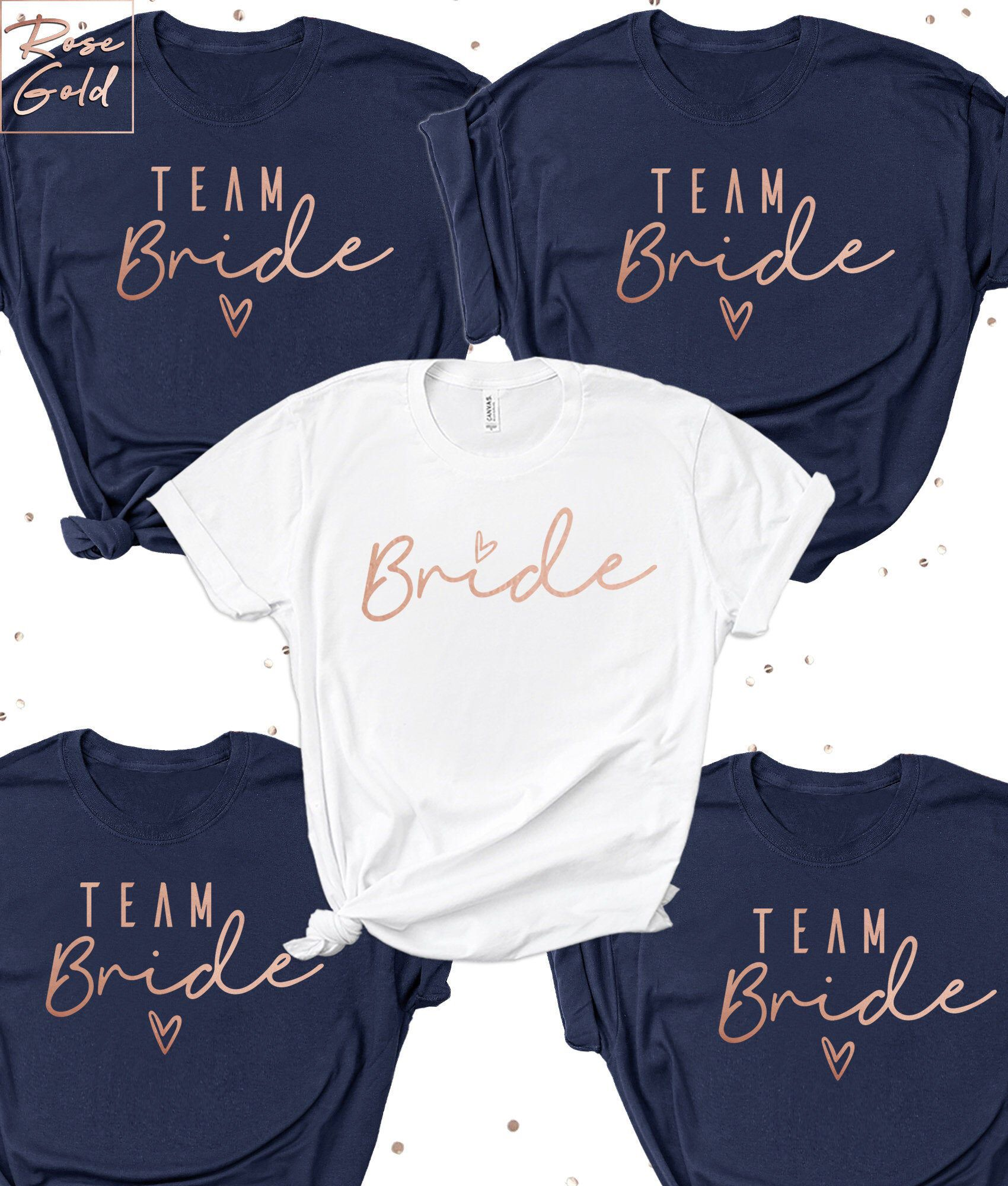 Hen Do Night Party T-Shirt Bridesmaid Bride To Be Tribe Team Squad Printed Top