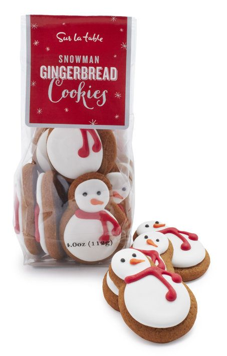 Snowman Gingerbread Cookies at Sur la Table : Gifts Under $15 for adults   Cool Mom Picks Holiday Gift Guide 2016