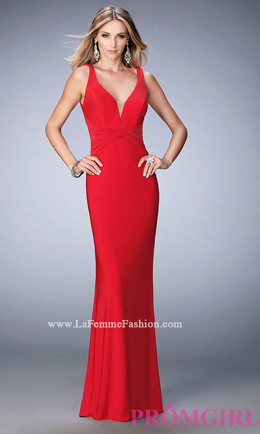 70c3f06e86 Image of floor length sleeveless v-neck open back dress Style  LF-22060  Detail Image 2
