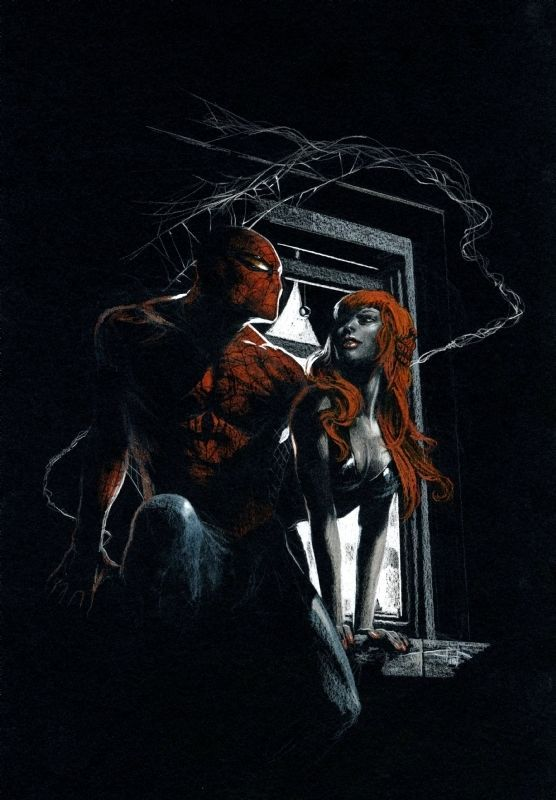 #Spiderman #Fan #Art. (Spider-Man and Mary Jane) By: GABRIELLE DELL'OTTO. (THE * 5 * STÅR * ÅWARD * OF: * AW YEAH, IT'S MAJOR ÅWESOMENESS!!!™)[THANK Ü 4 PINNING!!!<·><]<©>ÅÅÅ+