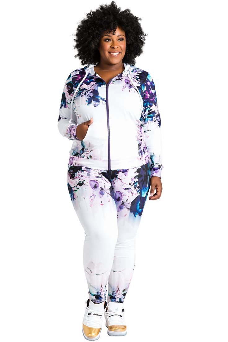 search for authentic top-rated authentic how to purchase Plus-Size Activewear (outfit) | Plus-Size Floral Print ...