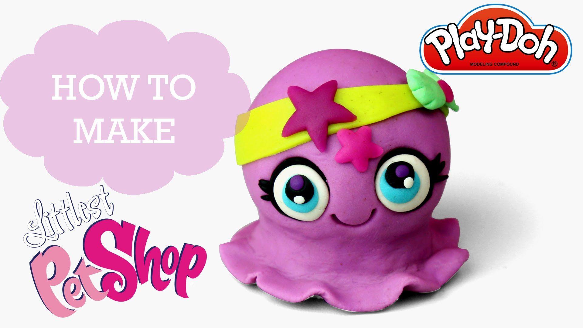 Littlest Pet Shop 2016 Play Doh Making Cute Octopus