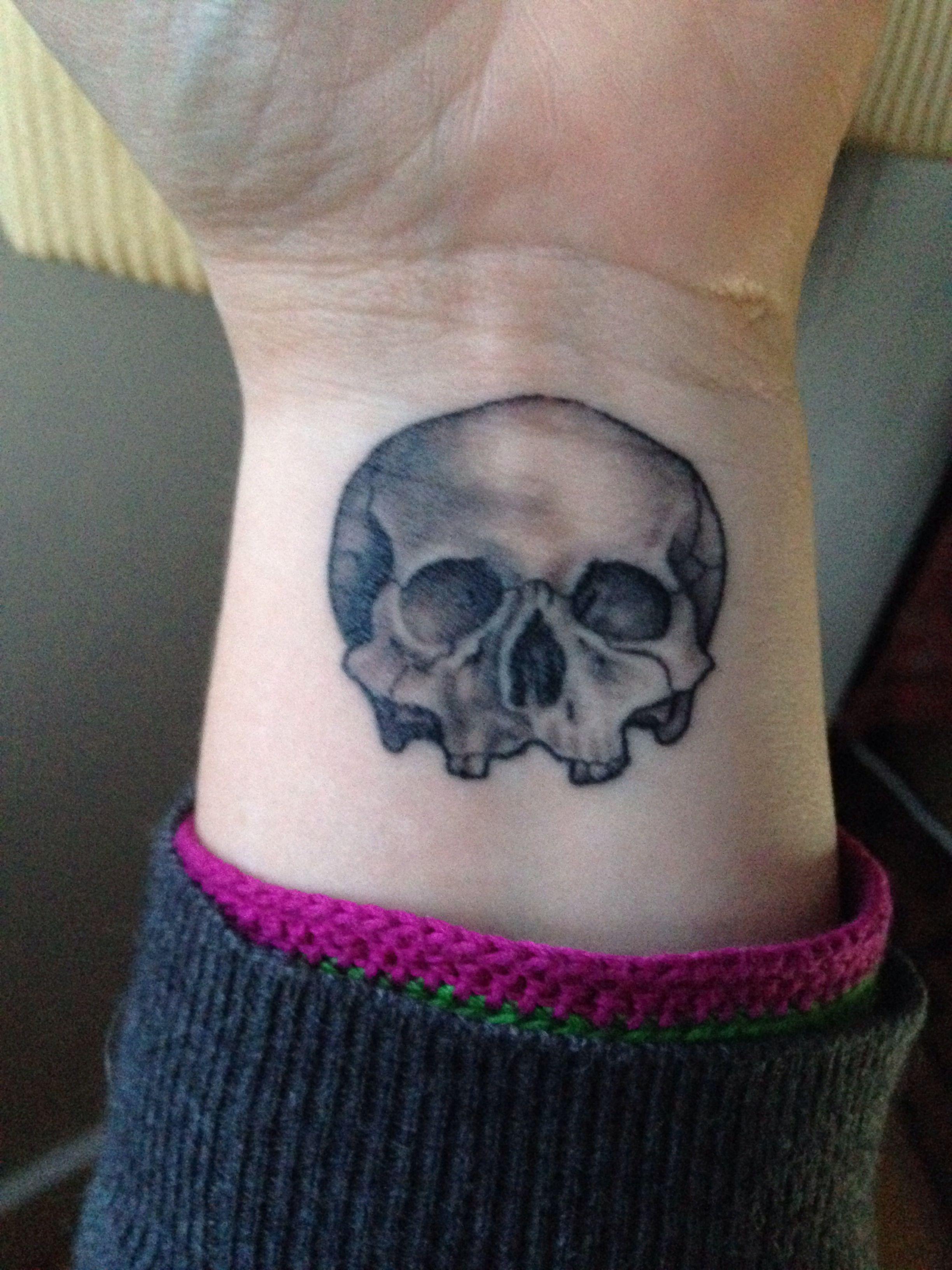 Wrist Skull Tattoo Peruvian Skull From The Temple Of The Sun Wrist