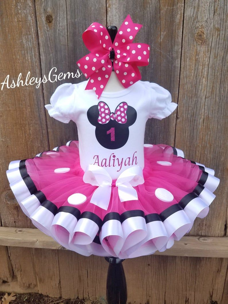 Pink Minnie Mouse Birthday Outfit Minnie Mouse Dress