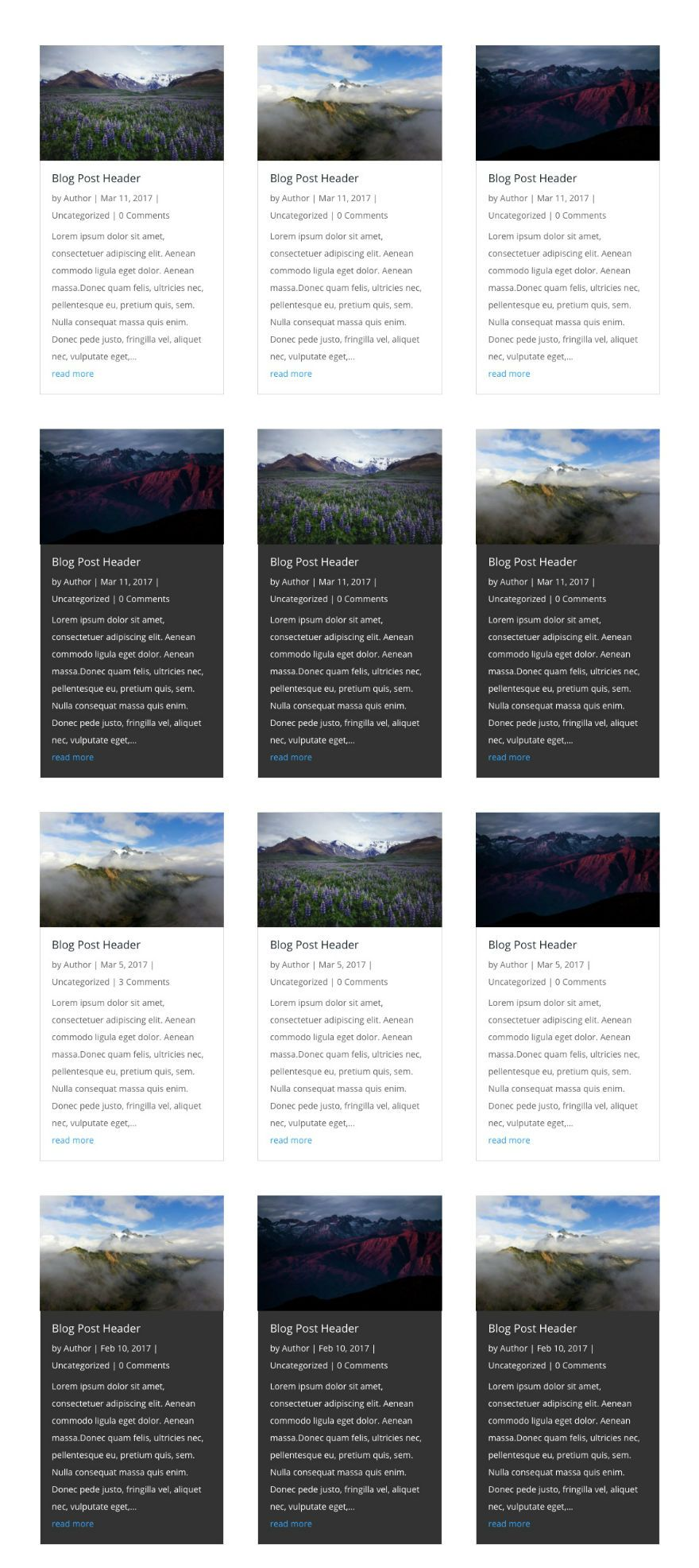 How to Style Your Divi Blog Module Grid Cards (With 4 Examples