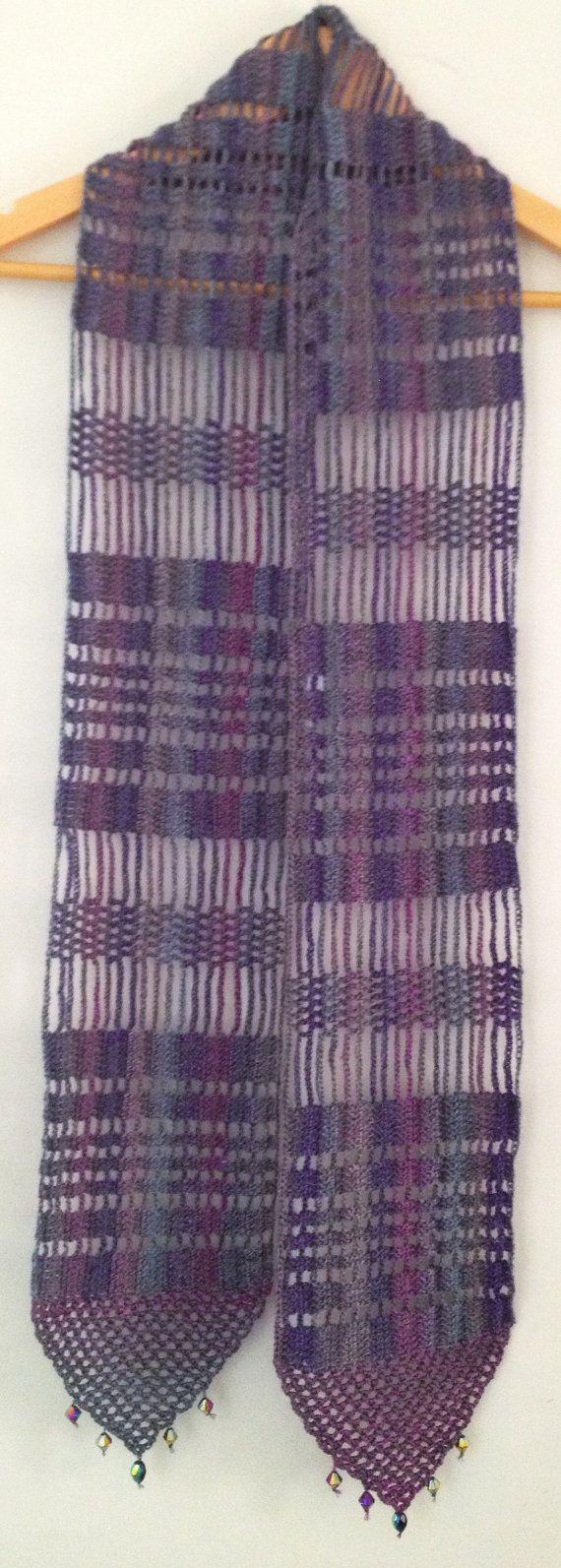 Lilac beaded crochet echarpe   Ganchillo con cuentas, Lilas y Cuentas