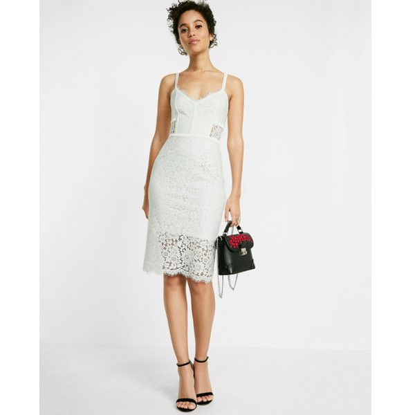 Express Piped Lace Sheath Dress ($44) ❤ liked on Polyvore ...