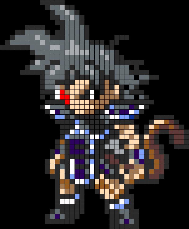 Turles Dragon Ball Perler Bead Pattern Anime Pixel Art Pixel