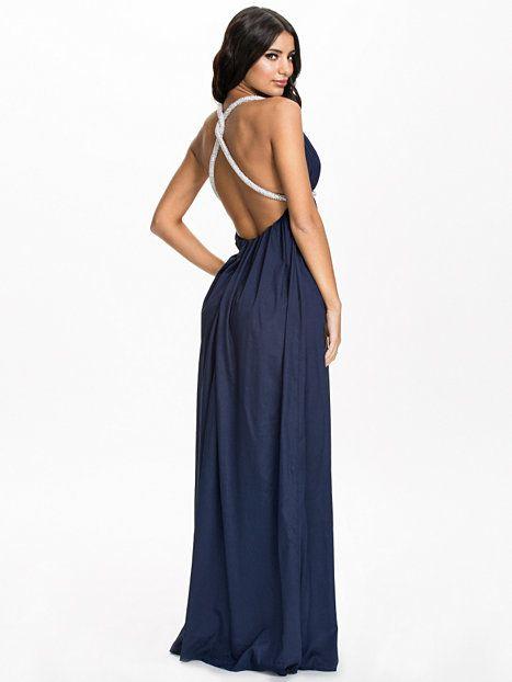 Cross Back Strap Dress - Nly Eve - Navy - Festklänningar - Kläder - Kvinna  - Nelly.com 9e75ed58509e5