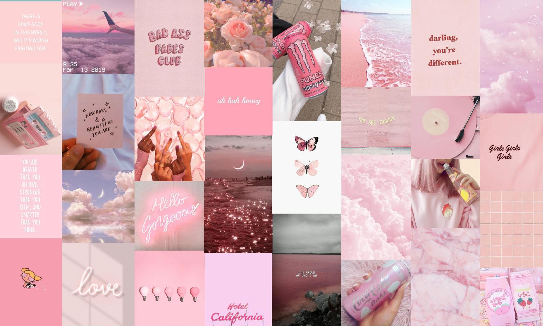 Pink Collage Computer Wallpaper Aesthetic Macbook Wallpaper Collage Light Pink Novocom Top aesthetic macbook wallpaper collage
