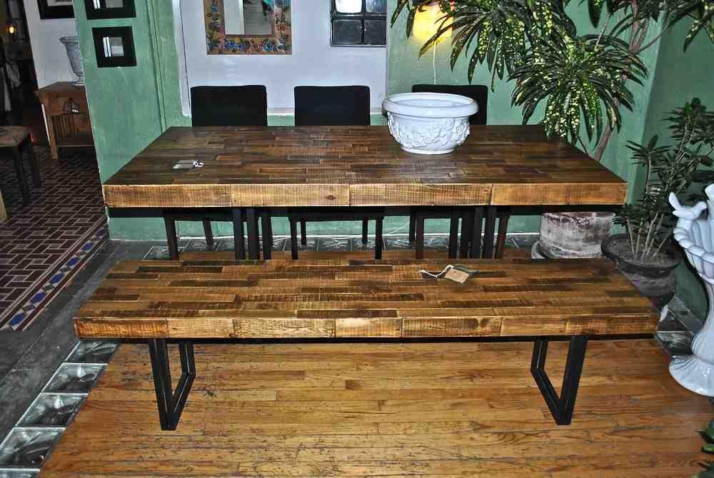 Comedor palets mesa armada con pallets reciclados y base con dos ...